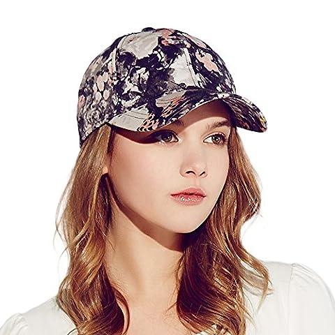 Kenmont Femmes Printemps dame coton visière chapeau de soleil sport casquette de baseball - 57 cm