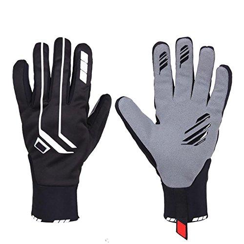 Ski-Handschuhe Warm und Wasserdicht, Stoff Super Faser + Lycra, Rutschfest, Abriebfest, Atmungsaktiv, Warm, Futter Plus Samt, Handflächenumfang 25Cm. -