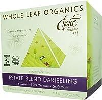 Choice Organic Whole Leaf Organics Estate Blend Darjeeling Tea Pyramids, 15-Count, 1.05-Ounce Boxes (Pack of 3)