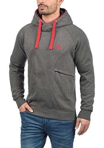 BLEND Cross Herren Kapuzenpullover Hoodie Sweatshirt aus hochwertiger Baumwollmischung Mid Grey (75147)