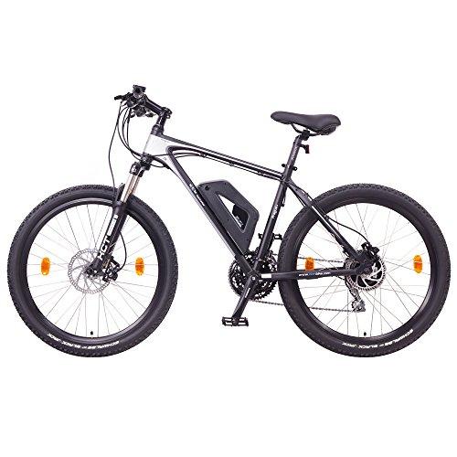 "NCM Prague Plus Bicicleta eléctrica de montaña, 250W, Batería 36V 14Ah 504Wh (Negro 26"")"