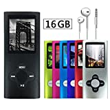 antcool (R) 16 GB Tragbare superdünn MP3 MP4 Player LCD-Display Musik Player Video Player Media Player Voice Recordi