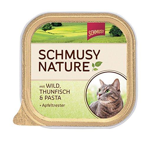 Schmusy | Nature mit Wild, Thunfisch & Pasta | 16 x 100 g