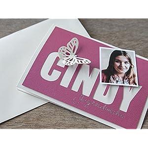 Einladung Karte Jugendweihe Konfirmation Pink
