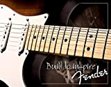 Fender Built to Inspire Vintage-Blechschild, Retro
