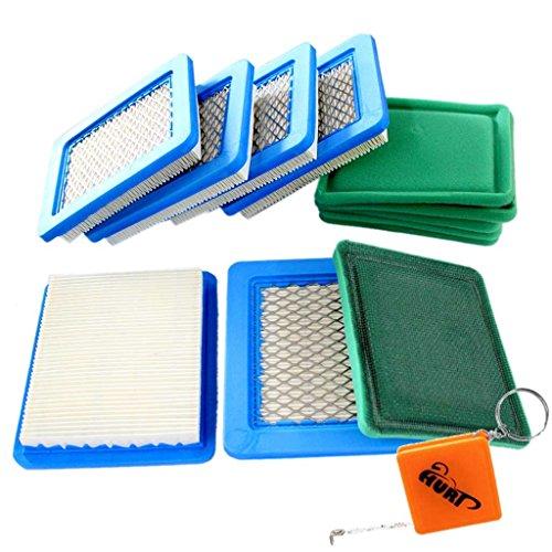 HURI 6 Luftfilter + 6 Vorfilter passend für Briggs & Stratton 3-5 PS Quantum 625 650 675 Ersetzt 491588 399959 491588S Sabo 31749 Wolf 2058411