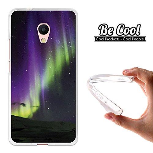 Becool® - Custodia Gel TPU Meizu M5s, Cover TPU prodotto col miglior silicone, protegge e si adatta alla perfezione al tuo Smartphone e oltrettutto ha il nostro disegno esclusivo. Aurora polare.