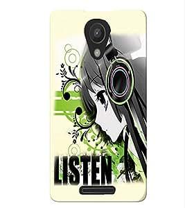 Fuson Music Girl Back Case Cover for XIAOMI REDMI NOTE 2 - D3724