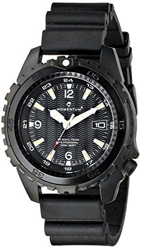 Momentum 1M-DV68B8B - Reloj de cuarzo para hombre, con correa de goma, color negro