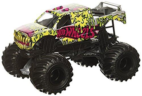 Mattel Hot Wheels Monster Jam Monster-Truck mit Team Flagge (Hot Wheels Firestorm 2)
