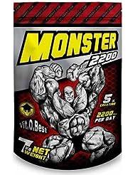 Vit-O-Best Monster Gainer 2200, Suplementos Alimentarios para Deportistas, Sabor a Chocolate - 7000 gr