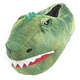 Pantofole Dinosaur 3D design in 4 misure. Slip su suola interna non scivolata. Slip su con suola interna non scivolata e interno imbottito. Dalle dimensioni UK 9-10 (Eu 27-28) a UK 2-3 Eu (31-36