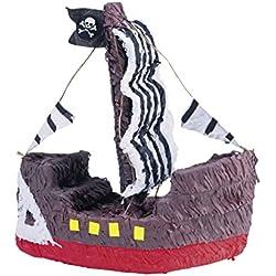 Piñata de barco pirata para fiestas.