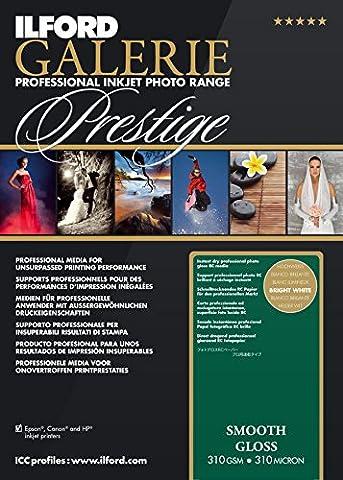 Ilford Galerie Premium Smooth Brillant 2001876 Papier jet d'encre Photo