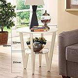 Ihre Wahl Couchtisch Amerikanisches Massivholz Moderne Einfachheit Rundes Wohnzimmer Einfache Sofaseite (Farbe : A, größe : 60cm*58cm)