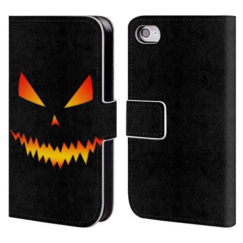 fizielle PLdesign Jack O Lantern Halloween Brieftasche Handyhülle aus Leder für iPhone 4 / iPhone 4S ()