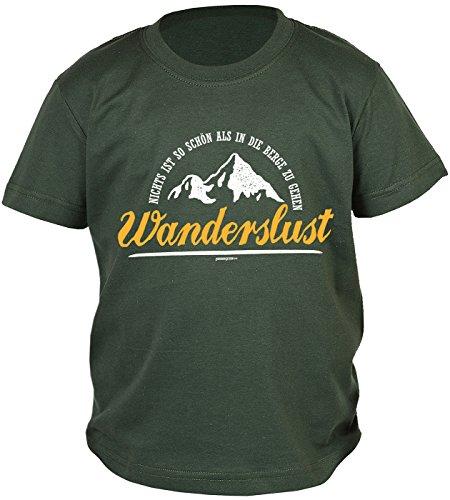 Kinder/Jungen-Shirt/Kletter/Wander/Bergsteiger-Shirt: Nichts ist so schön als in die Berge zu gehen Wanderslust