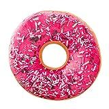 ZYUEER Doux en Peluche Oreiller en Peluche Galette de Chaise Sweet Donut Foods Housse...