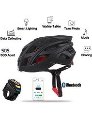 Moppi Livall 7en1 bluetooth casco de bicicleta inteligente LED teléfono de la música llamada aplicación soporte de la cámara del jugador luz de la cola