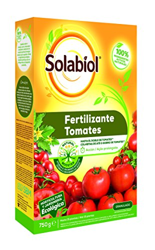 Solabiol - Fertilizante granulado 100% orgánico y ecológico para Tomates, Formato 750 g