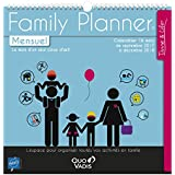 Quo Vadis - Family Planner Mensuel Calendrier de bureau - Sept 2017 à Déc 2018 - 15 mois - 30x30cm