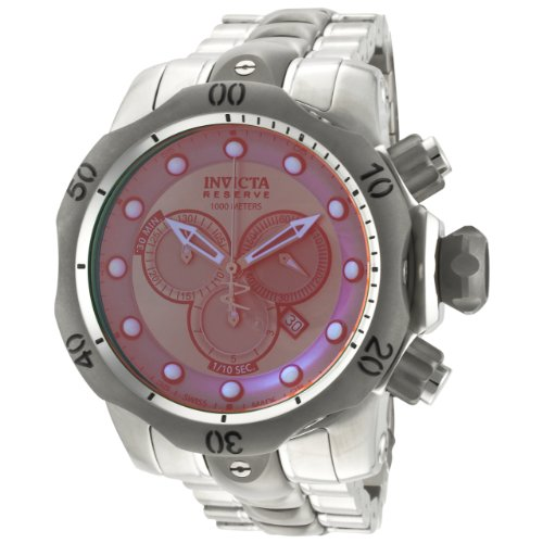 Invicta Men's 0967 Venom Reserve Chronograph Rose Tinted Crystal Stainless Steel Watch image