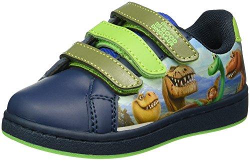 Arlo & Spot Boys Kids Low Sneakers, Baskets Basses Garçon Bleu - Blau (Lnv/Kh/GN/Rb 067)