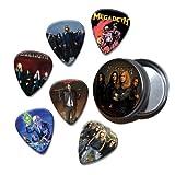 Megadeth Set of 6 Loose Guitar Médiators in Tin ( Collection D )