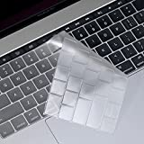 """OJOS (TM) Ultra Thin Transparent Keyboard Cover Skin For Newest 2018 / 2017 / 2016 With Touch Bar Macbook Pro 13"""" 15"""" (Model:A1706 / A1707) Waterproof Dust-proof Clear TPU, Macbook Pro With Touch Bar Keyboard Protector"""