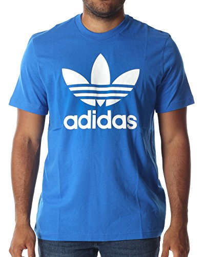 adidas Herren T-shirt Originals Trefoil, Bluebird, M, AJ8829 (Für 100 Köln Herren)