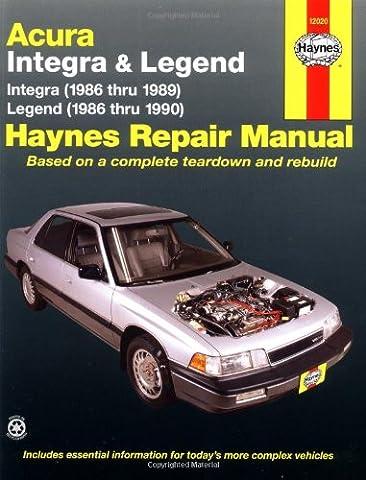 Acura: Integra & Legend 1986-1990 (Haynes Manuals)