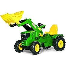 Rolly Toys 61 110 2 Rollyfarmtrac John Deere 6210 R - Tractor de pedales (con pala y ruedas ligeras)