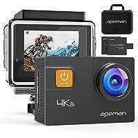 APEMAN Action Kamera WIFI sports cam 4K camera 20MP Ultra Full HD Unterwasserkamera Helmkamera wasserdicht mit 2 verbesserten Batterien Transporttasche und kostenlose Accessoires
