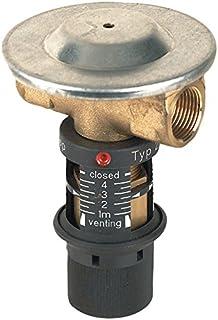 Oventrop Strangregulierventil Hydrocontrol VTRDN15 rotguss 1//2 Zoll IG mit Blindstopfen 1060104