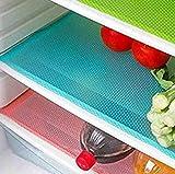 Hemore 4pezzi moda frigorifero Pad antibatterico Antifouling muffa umidità preservando tappetini frigorifero frigo base cuscino tovagliette sottobicchieri da cucina Pads (blu)