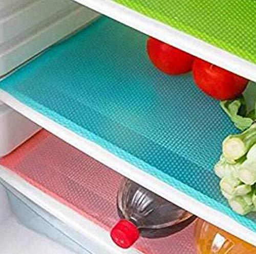 Hemore 4 Piezas Moda Refrigerador Pad Antibacterial Antiincrustante Mildew Moisture Preserving Pad...