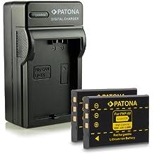 Bundle - 4en1 Cargador + 2x Batería Fuji NP-60 / Casio NP-30 / HP L1812A / R07 / A1812A / Kodak Klic-5000 para Fujifilm FinePix 50i | 601 | 401 | 410 | F401 | F401 Zoom | F410 | F601 | F601 Zoom | F700 | M603 | HP Photosmart R07 | R507 | R607 | R607 Gwen | R607xi | R707 | R707v | R707xi | R717 | R725 | R727 | R817 | R817v | R818 mucho más…