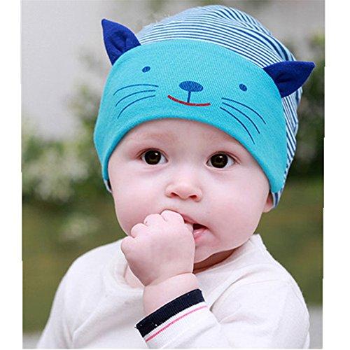 Frbelle 3D Katze Baby Hut Mütze Newborn Unisex Baby 100% Baumwolle Hüte Mützchen...
