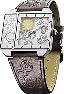 Dr Who Men's Quartz Watch with Multicolour Dial Analogue Display and Brown PU Strap DR174