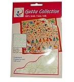 ARTY'S GUTTA COLLECTION - Motiv: Party Lights - Pongé 05, ca. 55x55cm Nickituch, rollierte Ränder (Gutta gold)