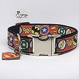 Jimmy und Katz 4260616172096 Hundehalsband Superhelden 35-60cm x 3cm