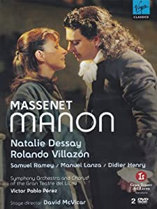 Natalie Dessay, Rolando Villazon, Samuel Ramey, Manuel Lanza, and Didier Henry star in this Gran Teatre del Liceu production of the Massenet opera conducted by Victor Pablo Perez and directed by David McVicar.