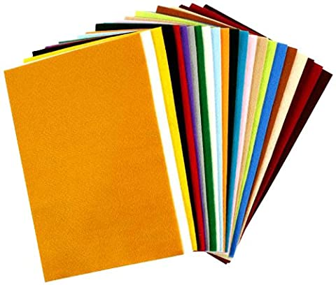 Filz 24 Stk. verschiedene Farben, 20x30