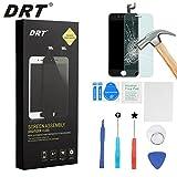DRT LCD Display Touchscreen Bildschirm für Apple Iphone 6 Front Glas Digitizer Glas scheibe Komplettset Glas + Werkzeug + Display schutzfolie(Schwarz)