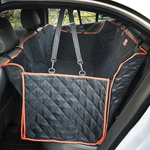 lanktoo Grand Housses de siège arrière pour chien housse de siège de voiture imperméable doux, antidérapante chien Hamac pour les voitures, camions, SUV, avec rabats latéraux