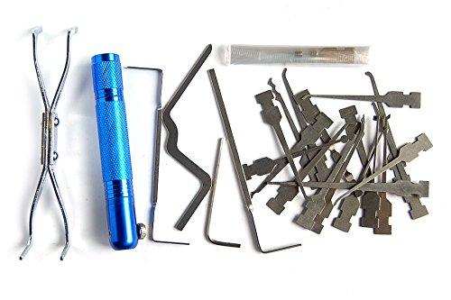 loboo Ehrlich Locksmith Werkzeug LED Lock Pick Set für Locksmith Haken Pins für Profi Master Werkzeuge -