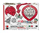 Marabu 406000000125 Window Color Handlettering Xmas Set, bunt