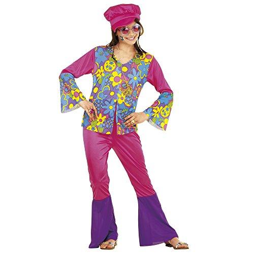 Widmann 38167 - Kinderkostüm Hippie Girl, Shirt, Hose, -