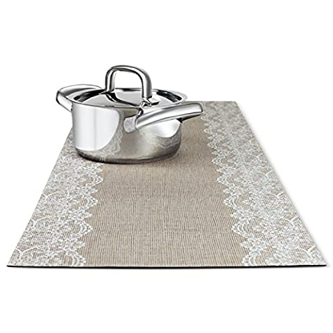 Trivetrunner: Decorative Trivet and Kitchen Table Runners Handles Heat Up to 300 F, Anti-Slip, Convenient for Hot Dishes and Pots,Hand Washable, Jute Burlap Design