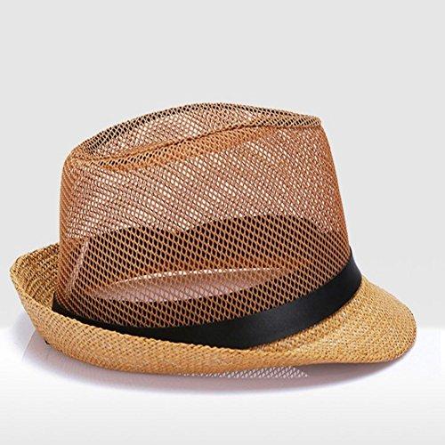 Hat Hut-Männer mittleren Alters und ältere Sommerhut Papa net Kappe Alten lässig kühlen Kappe Sommer Breathable Schatten ()